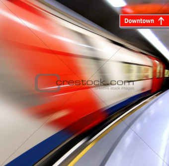 high-speed train in subway