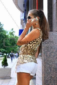 woman on a city street