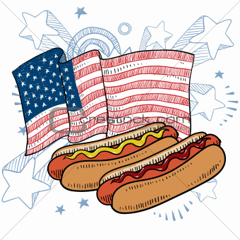 American style hot dogs