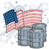 America Loves Oil sketch
