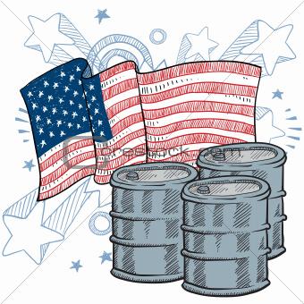 America Loves Oil sketch