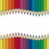 Seamless colored pencil border