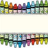 Seamless crayon border