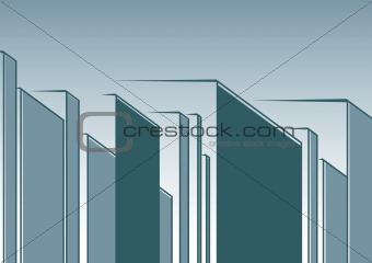 abstract urban landscape