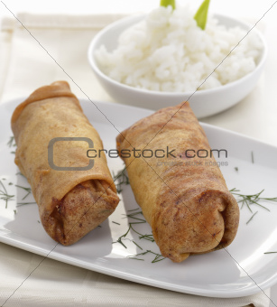 Fried Chicken Rolls