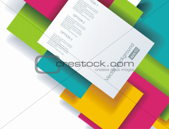 Blank square background for Your Text - Realistic 3D Vector Back