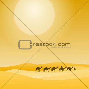 Caravan With Sand Dunes