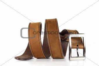 Leather belt for men.