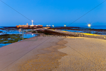 Beach of La Caleta of Cadiz