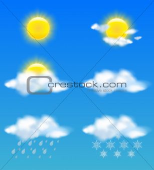 Weather icons set for print and web use