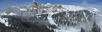 view of Sassongher, Alta Badia - Dolomites