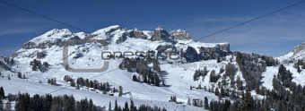 view of Sella Group, Alta Badia - Dolomites