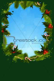 Grungy Christmas Greeting Card