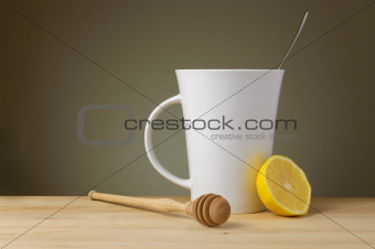 Tea with Lemon, Honey and Copy Space