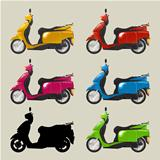 Retro scooters