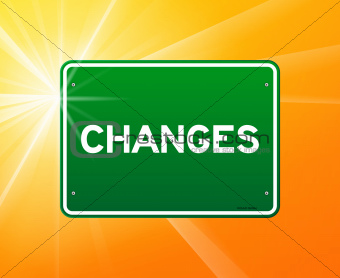 Changes Green Sign
