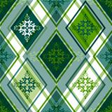 Seamless green rhombic pattern