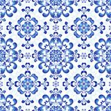 White-blue gzhel seamless pattern