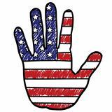 Patriotic American hand sketch