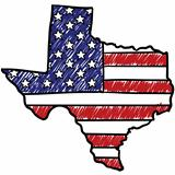 Texas is American sketch