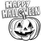 Happy halloween pumpkin sketch