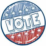 Vote campaign button sketch