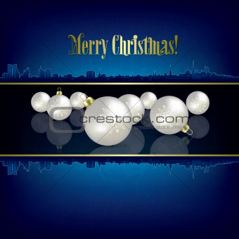 abstract Christmas background with white decorations