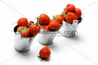 Three Buckets with Strawberry