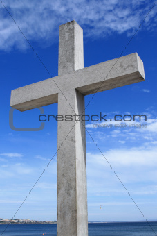 Big stone cross in Cascais