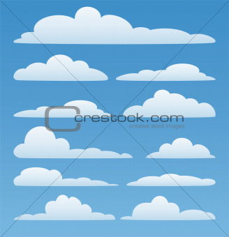 vector  clouds in the sky