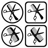 vector hairdresser symbols