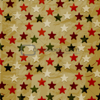 vector seamless retro pattern, crumpled paper texture