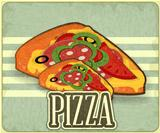 Retro Cover for Pizza Menu