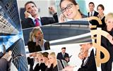 Men & Women Business Team Montage