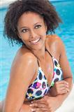 Sexy African American Woman Girl In Swimming Pool