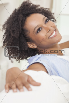 Happy Mixed Race African American Girl Young Woman