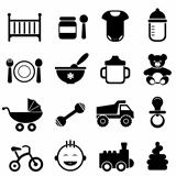 Baby and newborn icon set