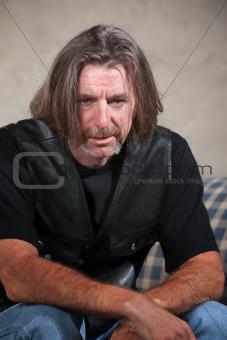 Depressed Biker Gang Member