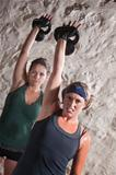 Ladies Doing Boot Camp Style Workout
