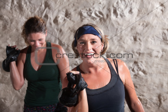Smiling Women Working Out