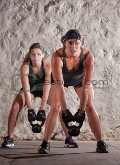 Beautiful Women in Boot Camp Style Workout