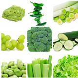 green food collage