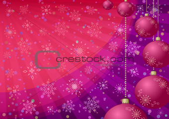 Christmas balls, background
