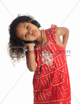 afro american black asian beautiful children with curly hair lis