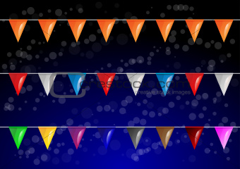 Vector celebrational party flags