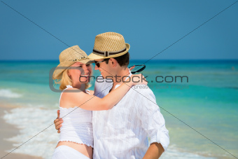 Loving couple in honeymoon