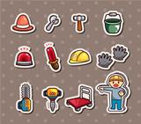 Set of construction stickers