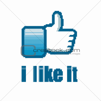 Social Network &quot;like it&quot; hand button 