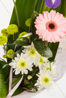 fresh flower bouquet with gerber