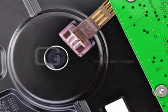 hard disk closeup circuit board